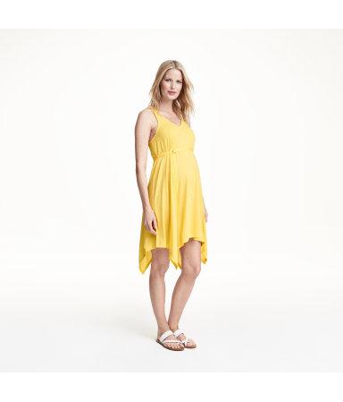 МАМА Трикотажное платье (Желтый)