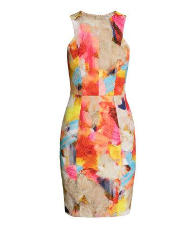 Платье без рукавов (Желтый)