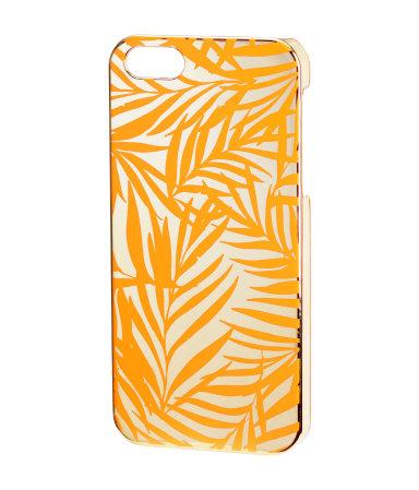 Чехол для Iphone 5/5s (Оранжевый/Рисунок)
