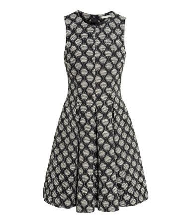 Жаккардовое платье (Черный/Рисунок)