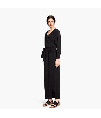 Платье с запахом (Черный)