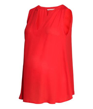 МАМА Блузка без рукавов (Красный)