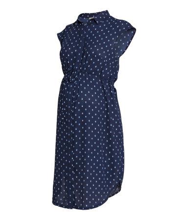 MAMA Платье (Темно-синий рисунок)