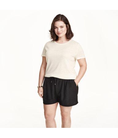 H&M+ Трикотажные шорты (Черный)