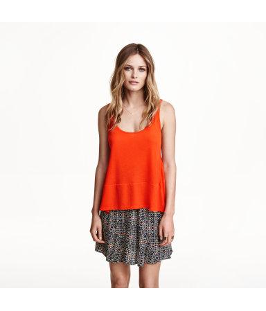 Широкая майка (Оранжевый)