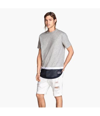 Длинная футболка (Серый)