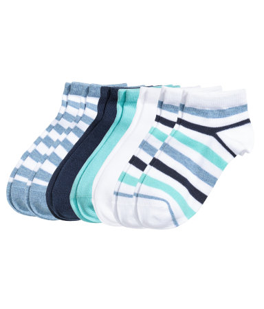 Короткие носки, 7 пар (Бирюзовый)