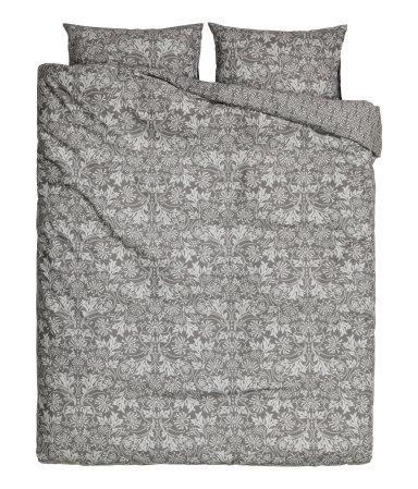 Двуспальное постельное белье (Темно-серый)