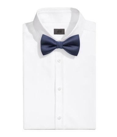 Шелковый галстук-бабочка (Темно-синий)