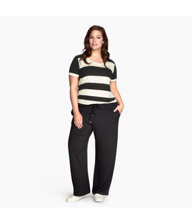 H&M+ Широкие брюки (Черный)