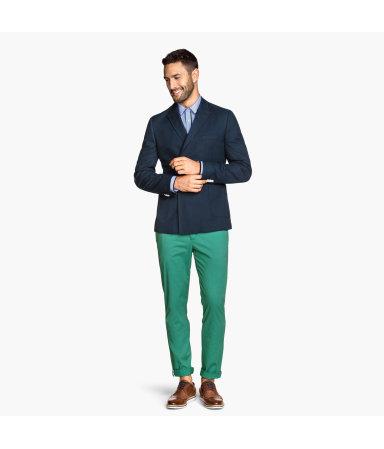 Чиносы Slim fit (Зеленый)