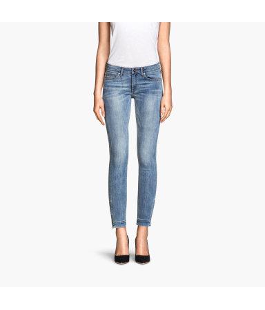Укороченные джинсы (Голубой деним)