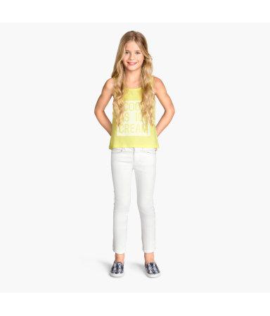 Укороченные брюки (Белый)