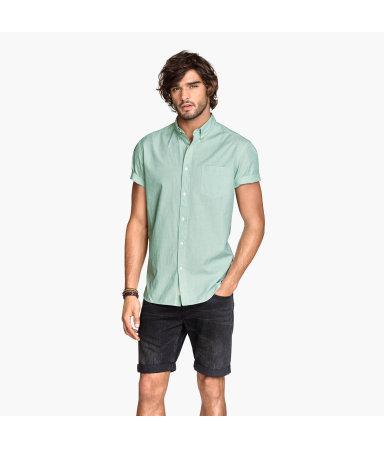 Рубашка из поплина (Мятно-зеленый)