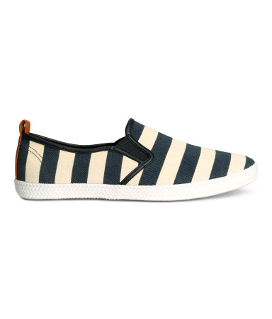 Туфли из текстиля (Темно-синий/Полоска)