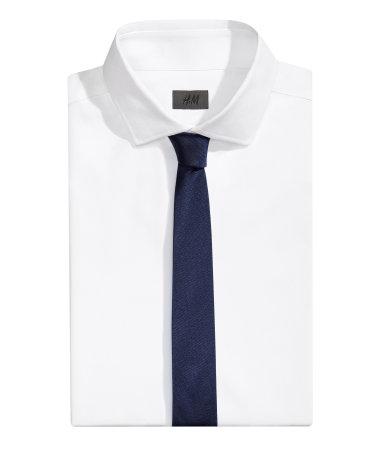 Однотонный галстук (Темно-синий)
