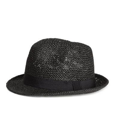 Соломеннная шляпа (Черный)
