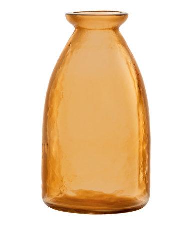 Маленькая стеклянная ваза (Оранжевый)