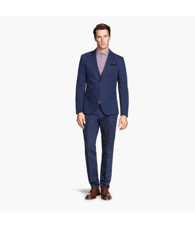 Костюмные брюки (Темно-синий)