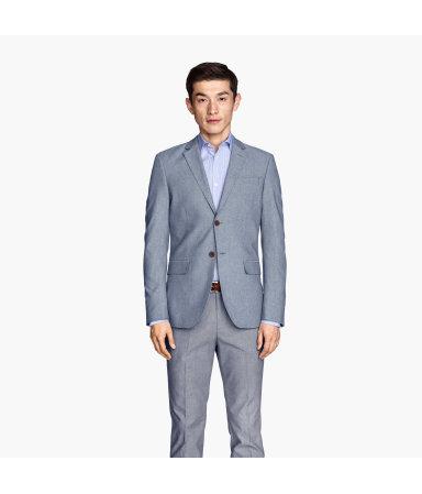 Пиджак из оксфордской ткани (Синий)