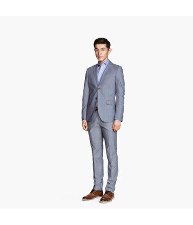Костюмные брюки Slim fit (Синий)