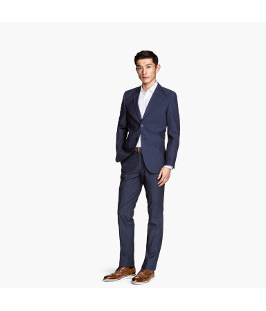 Костюмные брюки Slim fit (Темно-синий)