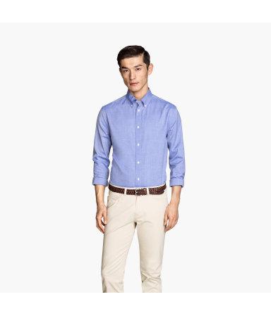 Рубашка из хлопка премиум (Синий)