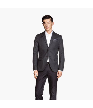 Пиджак из хлопка (Темно-серый)