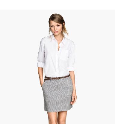 Короткая юбка (Темно-синий/Полоска)