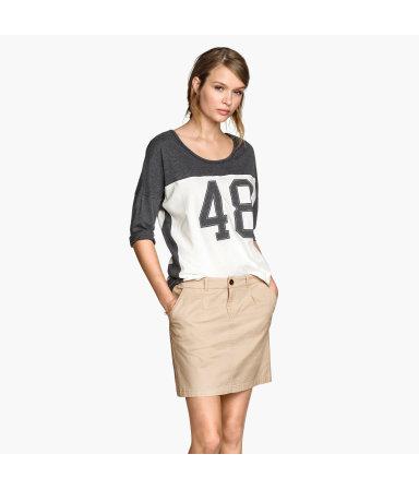 Короткая юбка (Светло-бежевый)