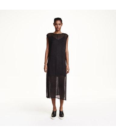 Платье тонкой вязки (Черный)