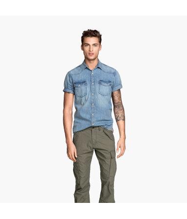 Джинсовая рубашка (Голубой деним)