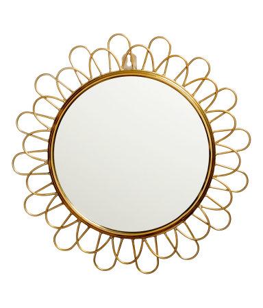 Круглое зеркало (Золотистый)
