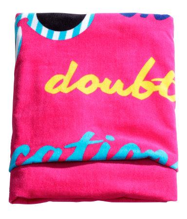 Пляжное полотенце (Розовый)