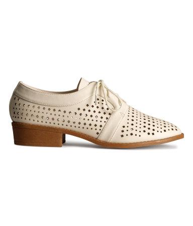 Туфли с перфорацией (Светло-бежевый)