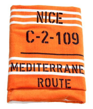 Пляжное полотенце (Оранжевый)