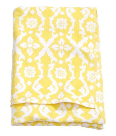 Пляжное полотенце (Желтый)