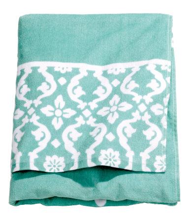 Пляжное полотенце (Бирюзовый)