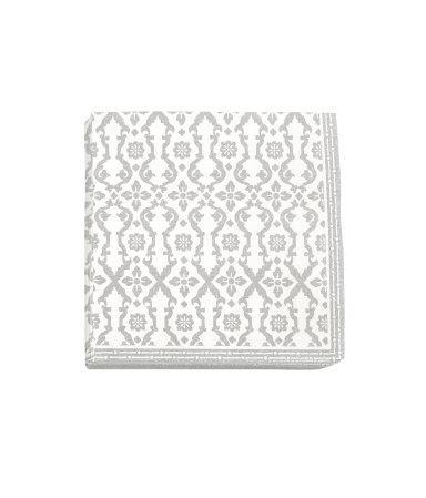 Бумажные салфетки (Светло-серый)