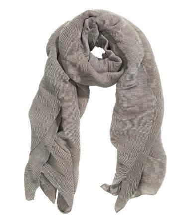Плиссированный шарф (Светло-серый)