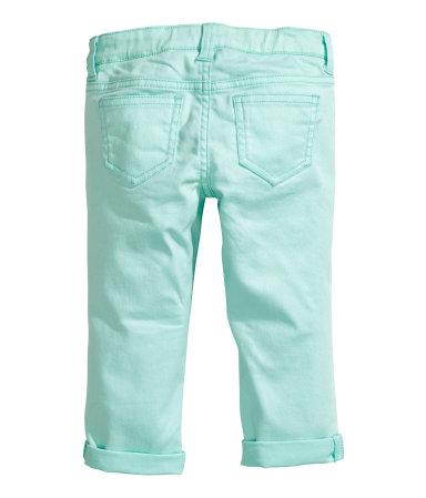Укороченные брюки (Мятно-зеленый/Блестк)