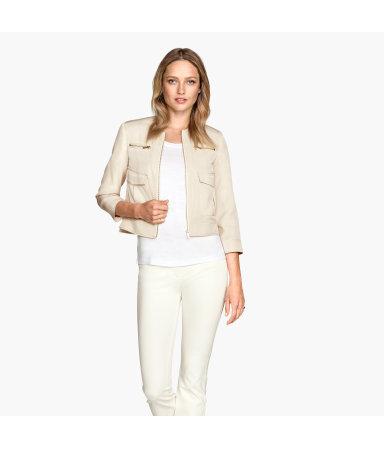 Укороченная куртка (Светло-бежевый)