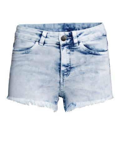 Джинсовые шорты (Синий деним/Кислота)