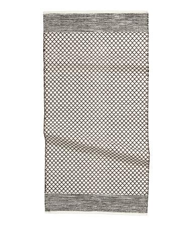Коврик из жаккардовой ткани (Черный)