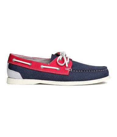 Яхтенные ботинки (Темно-синий/Красный)