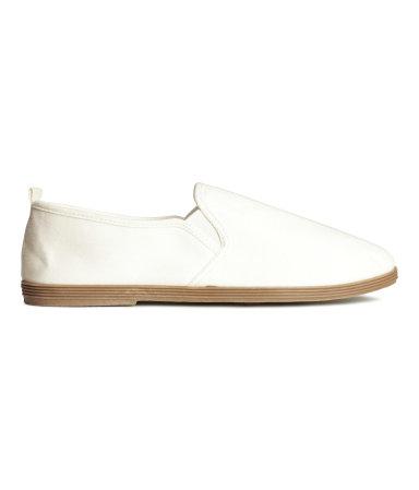 Туфли из текстиля (Белый)