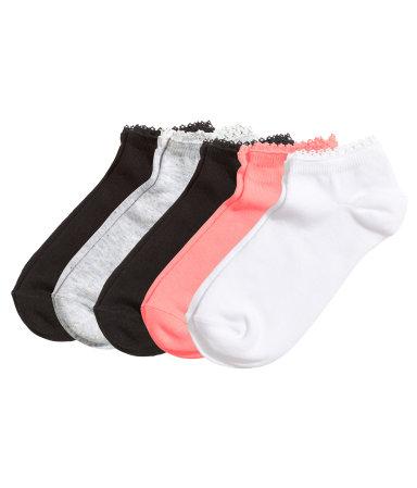 5 пар коротких носков (Черный)