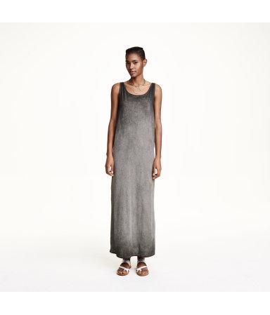 Трикотажное платье без рукавов (Серый)