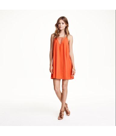 Расклешенное платье (Оранжевый)