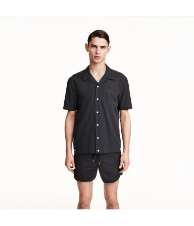 Рубашка с коротким рукавом (Темно-синий)